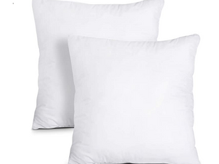 20 x 20 Inch Pillow Inserts  Set of 2  HIPPIH Decorative Throw Pillow Inserts  Hypoallergenic Square Pillow Form Insert with Zips  Upgraded