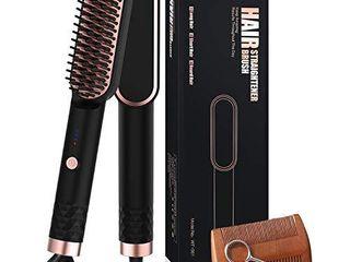 Beard Straightener  Heated Beard Comb Electric Straightening Comb with Beard Comb and Beard Straightening Brush Hair Straightening Comb Gifts for Men