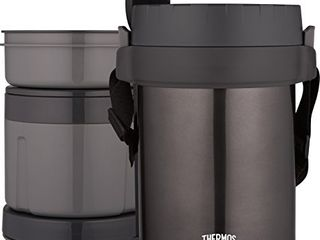 Thermos All In One Vacuum Insulated Stainless Steel Meal Carrier with Spoon  Smoke