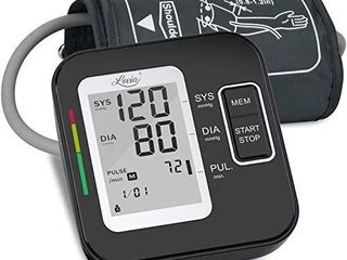 lovia Blood Pressure Monitor Automatic Upper Arm Blood Pressure Machine Cuff Kit with large Display Irregular Heartbeat   Hypertension Detector 120 Sets Memory