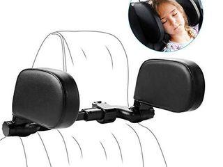 Yoocaa Car Headrest Pillow  Road Pal Headrest  Adjustable Car Seat Head Neck Support  U Shaped Car Sleeping Pillow for Kids   Adults  Black
