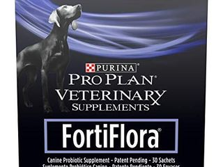 Purina FortiFlora Probiotics for Dogs  Pro Plan Veterinary Supplements Powder Probiotic Dog Supplement 30 ct  box