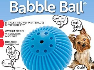 Pet Qwerks Talking Babble Ball Interactive Dog Toys   Wisecracks   Makes Funny Sounds  Electronic Talking Treat Ball that Talks   Makes Noise   Avoids Boredom   Keeps Active   For Small Dogs   Puppies