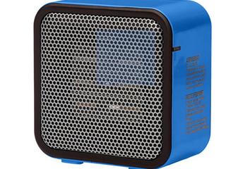 500 watt Ceramic Small Space Personal Mini Heater Blue