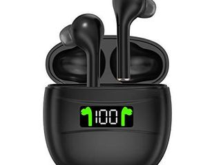 Wireless Earbuds  Bluetooth 5 0 IPX7 Waterproof Headphones with Digital Intelligence lED Display Charging Case  HD Stereo Built in Mic in Ear Sports Earphones 50 Hrs Playtime for Running Gym Office