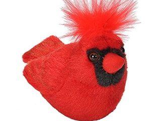 Wild Republic Audubon Birds Northern Cardinal Plush with Authentic Bird Sound  Stuffed Animal  Bird Toys for Kids and Birders