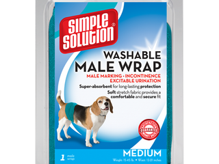 Simple Solution Washable Male Wrap Dog Diaper  Medium  1 Pack