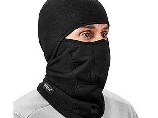 Ergodyne N Ferno 6823 Balaclava Ski Mask  Wind Resistant Face Mask  Hinged Design  Each  Black  One Size