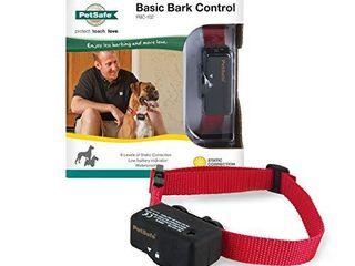 PetSafe Basic Bark Control Collar for Dogs 8 lb  and Up  Anti Bark Training Device  Waterproof  Static Correction  Canine   Automatic Dog Training Collar to Decrease Barking
