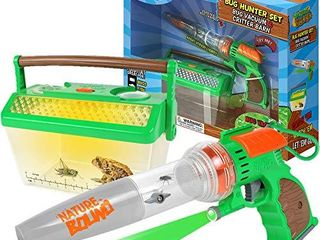 Nature Bound Bug Catcher Vacuum with light Up Critter Habitat Case for Backyard Exploration   Complete Kit for Kids Includes Vacuum and Cage