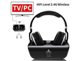 Artiste Adh300 Wireless Tv Headphones 2 4ghz Uhf rf Digital Over ear Stereo H