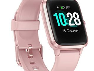 ANBES Health and Fitness Smartwatch with Heart Rate Monitor  Smart Watch for Home Fitness Tracking  Yoga  Exercise Bike  Treadmill Running  Compatible with iPhone and Android Phones for Women Men
