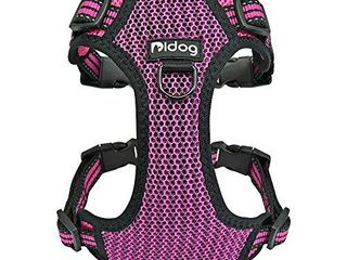 Didog No Pull Dog Vest Harness Step in Dog Harness with Soft Breathable Air Mesh Reflective Escape Proof Harness for Walking Small Medium Dogs Hot Pink Small Size