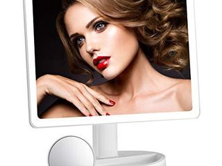 large lighted Makeup Mirror  Makeup Mirror with 88 lED lights and Magnification  lighted Vanity Mirror with Mini 10X Magnifying Mirror  3 Colors lighting Modes  Stepless Dimming  Valentine s Day Gift