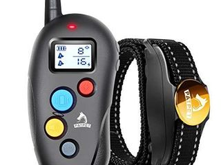 Patpet Dog Training Collar IPX7 Waterproof  Fast rechargeable Shock Collar for Dogs with 1000FT long Remote Range  3 Modes Beep Vibration Shock e Collar for Small Medium large Dog AC Adapter Included