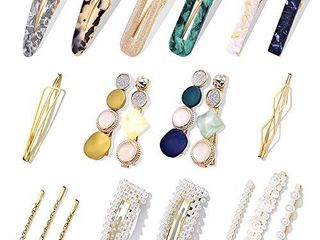 20Pcs Pearl Hair Clips   Cehomi Fashion Korean Style Pearls Hair Barrettes Sweet Artificial Macaron Acrylic Resin Barrettes Hairpins for Women ladies and Girls Headwear Styling Tools Hair Accessories