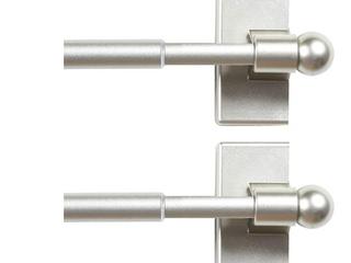 H  Versailtex 1 2 Inch  Nickle Rod  2 Pack