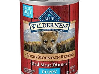 Blue Buffalo Wilderness Rocky Mountain Recipe High Protein  Natural Puppy Wet Dog Food  Red Meat 12 5 oz cans  Pack of 12