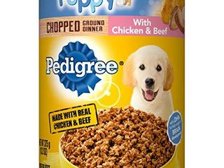 PEDIGREE Puppy Canned Wet Dog Food Chopped Ground Dinner with Chicken   Beef   12  13 2 oz  Cans