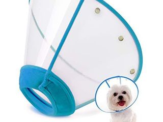 IN HAND Adjustable Pet Recovery Collar Cat Cone  US Patented Product Soft Edge Plastic Dog Cone Anti Bite lick Wound Healing Safety Practical Protective E Collar