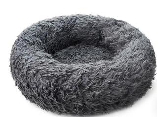 Shag Vegan Fur Donut Comfortable Dog Bed