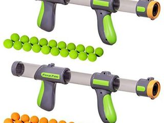 GoSports Foam Fire Blasters 2 Pack with 40 Balls  Multicolor