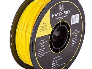HATCHBOX PlA 3D Printer Filament  Dimensional Accuracy   0 03 mm  1 kg Spool  3 00 mm  Yellow