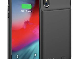 Battery Case for iPhone X XS  4000mAh Portable Protective Charging Case Extended Rechargeable Battery Pack Charger Case Compatible with iPhone X XS  10  5 8 inch