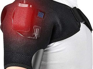 HailiCare Wireless Heated Shoulder Wrap Shoulder Heating Pad Shoulder Hot Cold Therapy Frozen Shoulder Powered by Portable Charger