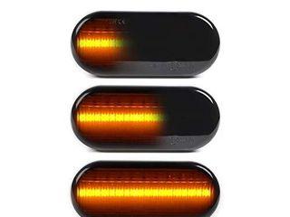 GemPro 2Pcs Dynamic Smoke Amber lED Side Marker Turn Signal light For VW Golf3 Golf4 Bora lupo Passat Polo Sharan Vento T5