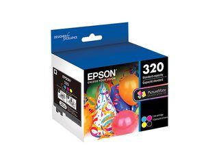Epson   320 4 Pack Standard Capacity   Black Yellow Cyan Magenta Ink Cartridges   Quadcolor