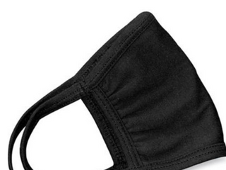 Black Cloth Face Mask  Pack Of 8