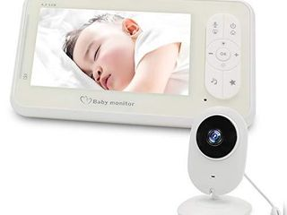 Video Baby Monitor  SZXSDY Baby Monitor Camera and Audio large Display Monitor 4 3 Inch Night Vision Baby Monitor for Baby Gift
