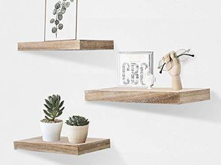 AHDECOR Floating Wall Mounted Shelves  Set of 3 Display ledge Shelves Wide Panel for Bedroom Office Kitchen living Room  5 9  Deep  Espresso Brown