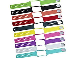 TenCloud Replacement of Samsung R750 Gear S Smartwatch Strap Bands Set of 10 for Super AMOlED Display Wearables