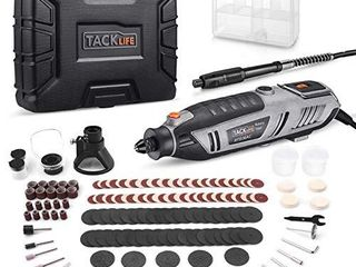 TACKlIFE Rotary Tool 200W Power Variable Speed with 170 Accessories  MultiPro Keyless Chuck and Flex Shaft  Carrying Case  Multi Functional for Around The House and Crafting Projects   RTD36AC