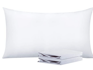 NTBAY 100  Brushed Microfiber Pillowcases Set of 3  Soft and Cozy  Wrinkle  Fade  Stain Resistant  20 x 30  White