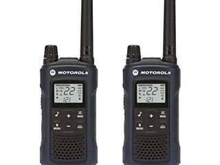 Motorola Talkabout T460 Rechargeable Two Way Radio Pair  Dark Blue