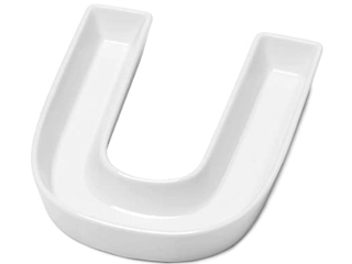 Sweese 708 921 Porcelain letter Candy Dish  letter U  White   Decorative Serving Dish for Valentine s Day  Weddings  Anniversaries  Birthday Party  Table Decoration