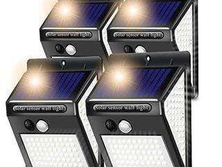 XinGung 4 group  144 led solar motion sensor light outdoor IP 65 Waterproof Outdoor lights outdoor solar lights motion sensor solar motion lights