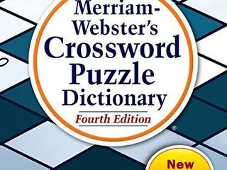 Merriam Webster s Crossword Puzzle Dictionary  4th Ed  Enlarged Print Edition  Newest Edition