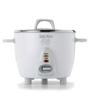 Aroma 6 Cup White Simply Stainless Pot   White