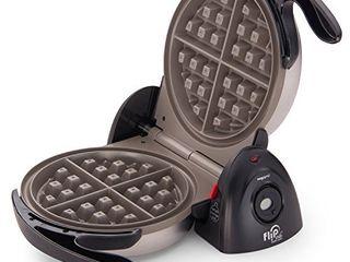 Presto 03510 Ceramic FlipSide Belgian Waffle Maker Black