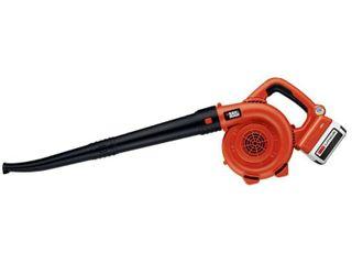 BlACK DECKER 40V MAX  lithium Ion Sweeper   Orange Sorbet