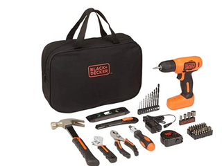 BlACK AND DECKER PROJECT PACK DRIll DRIVER AND 57 PIECE