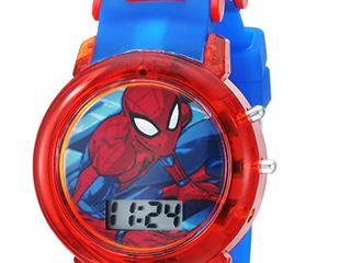 Marvel Boys  Quartz Watch With Plastic Strap  Blue  20  Blue  Size No Size Xzpf