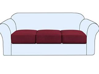 H  Versailtex  Stretch Seat Cover  3 Pack  Burgundy