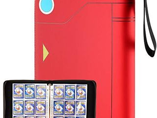 tombert 9 Pocket 720 Cards TCG Binder Compatible with Pokemon Trading Cards  Sleeves Card Carrying Case for Pokemon Cards  Baseball Cards  Yu Gi Oh  Skylanders  Top Trumps Yand Football Card