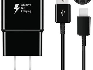 Swadaws Charger for Samsung Galaxy S10  Adaptive Fast Wall Android Cell Phone Tablet Charger Adapter with USB Type C Cable Compatible with Samsung Galaxy S20 S10e S9 S8 Plus Active Note 9 8  Black