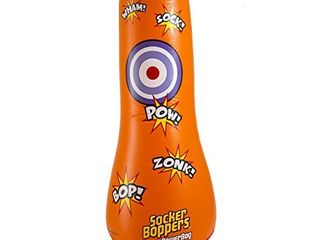 Big Time Toys Socker Bopper Power Bag Standing Inflatable Punching Bag for Kids   1 ea